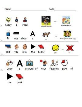 Special Education comprehension - Ruby the Copycat