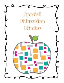 Special Education forms and data collection materials