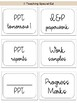 Special Education labels - cursive version