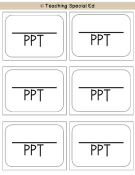 Special Education labels - printed version