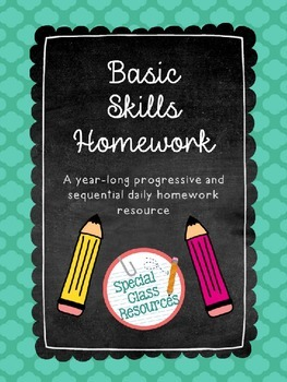 Special Education/Autism Homework for the School Year!