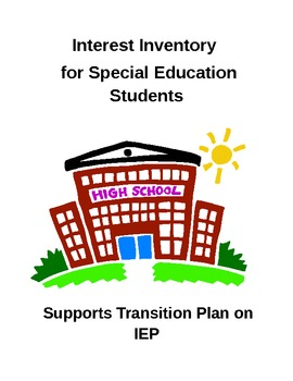 Special Education:Interest Inventory (Moderate to Severe)