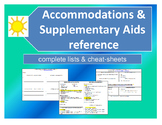Accommodations & Supplementary Aids reference - Great for