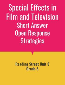 Special Effects Open Response Strategies (Reading Street 2011)