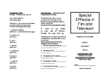 Special Effects in Film and Television Trifold (Reading Street 2011 Edition)