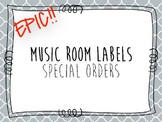 Special Epic Room Labels for Melanie M.