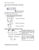 Special Equations Study Guide Algebra I
