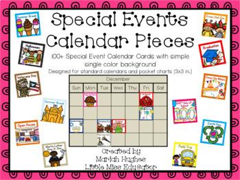 33 Special Events Calendar Cards
