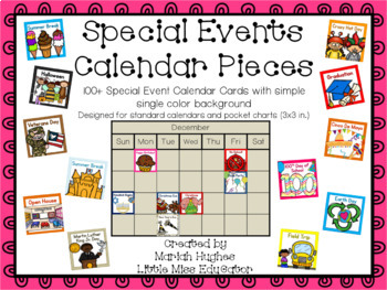 33 Special Events Calendar Cards