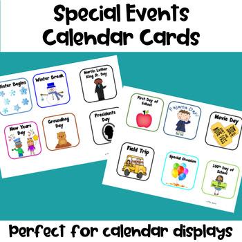 Special Events Calendar Cards