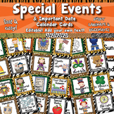 Special Events / Important Date Calendar Cards APT-001