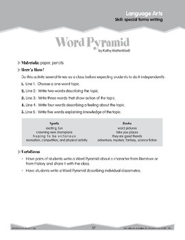 Special Forms Writing (Ten-Minute Activities)