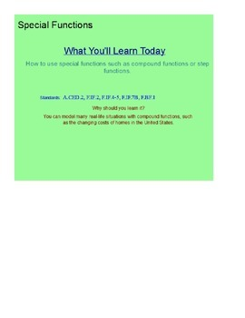 Special Functions Part 1 SmartBoard Lesson