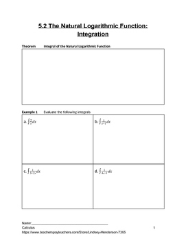 Special Functions Differentiation and Integration Lesson 2 of 8 (Ln Integrals)