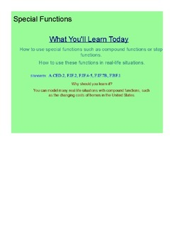Special Functions Part 2 SmartBoard Lesson