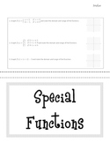 Special Functions Tab Book--Piecewise, Step, Absolute Value, Greatest Integer