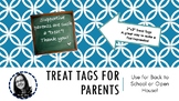 Special Gift or Treat Bag Tags or Toppers for Parents