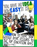 HOW TO MOVE GOOGLE DRIVE TEACHING LESSONS TO THE TOP ED APPS  {COMMERCIAL USE!}