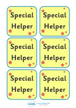 Special Helper Badge