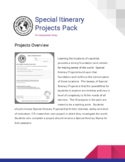 Special Itinerary Projects Pack (18 geography projects for