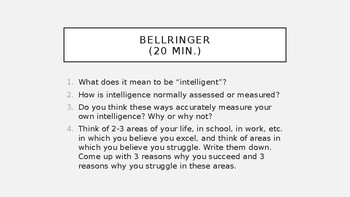 Special Lesson: The Multiple Intelligences