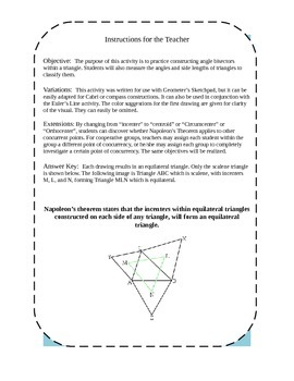 Special Lines in Triangles Investigation
