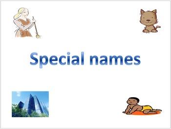 Special Names (Proper Nouns)