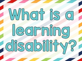 Special Needs Awareness Presentation - Learning Disability Simulations
