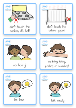 Special Needs Communication Cards Daily Routine Boy