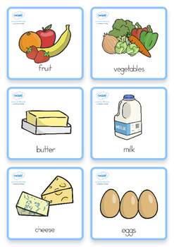 Special Needs Communication Cards Food - Australia