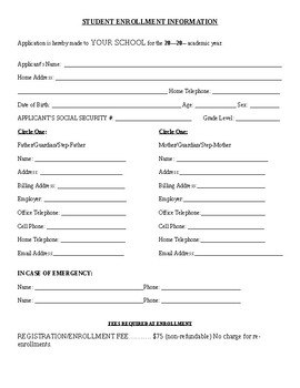 Special Needs (ESE) School Registration Packet