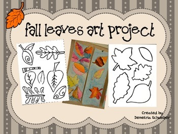 Special Needs Fall Leaves Watercolor Art Project