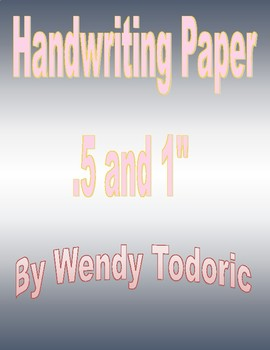 Special Needs Large Handwriting Paper -Large and Small