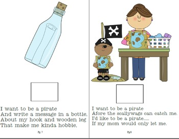 Special Needs/Adaptive Preschool Interactive Book about Pirates