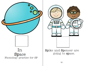 Special Needs Preschool Interactive Book for Phonology-In Space