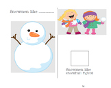Special Needs Preschool Snowman Activity focusing on Phonology for /sn/ sounds
