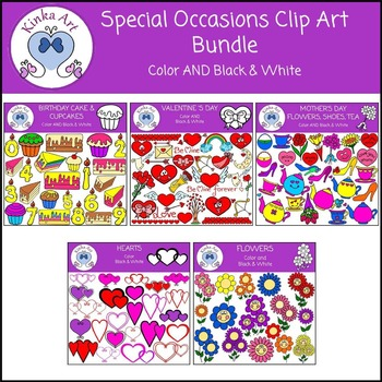Special Occasions (Birthday / Valentine's / Mother's Day) Clip Art Bundle