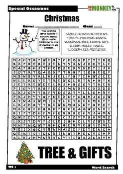 Special Occasions Word Searches