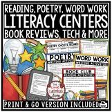 Literacy Centers Activities 3rd Grade, 4th Grade & 5th Grade