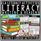 Literacy Centers 3rd Grade, 4th Grade & 5th Grade- Literacy Stations Bundle