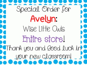 Special Order: Avelyn