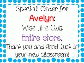 Special Order: Avelyn