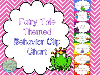 Special Order - Fairytale Themed Behavior Chart