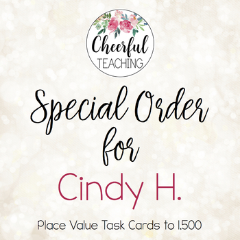 Special Order for Cindy H.