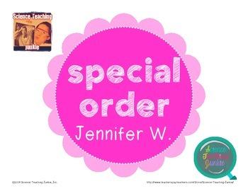 Special Order for Jennifer W.