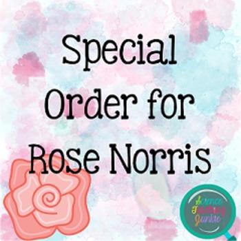 Special Order for Rose Norris