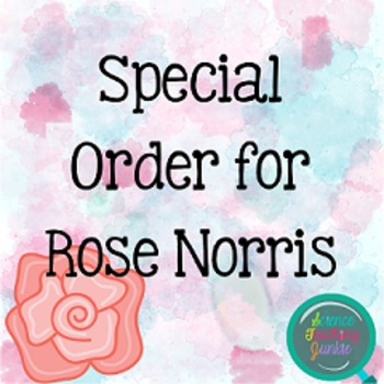 Special Order for Rose Norris