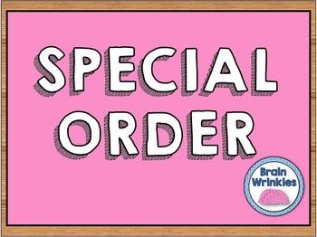 Special Order for Samantha