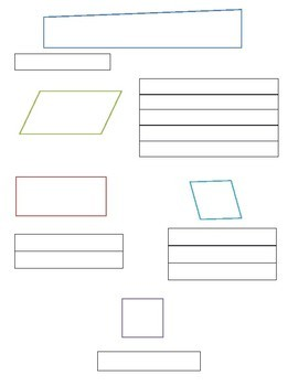 Special Parallelograms Flow Chart Graphic Organizer