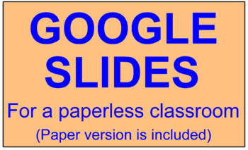 "SPECIAL PARALLELOGRAMS TASK CARDS:  ""GOOGLE SLIDES"", SMARTBOARD, POWERPOINT"